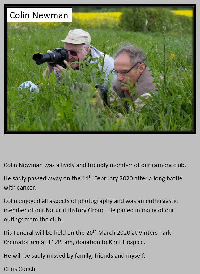 Colin Newman Obituary
