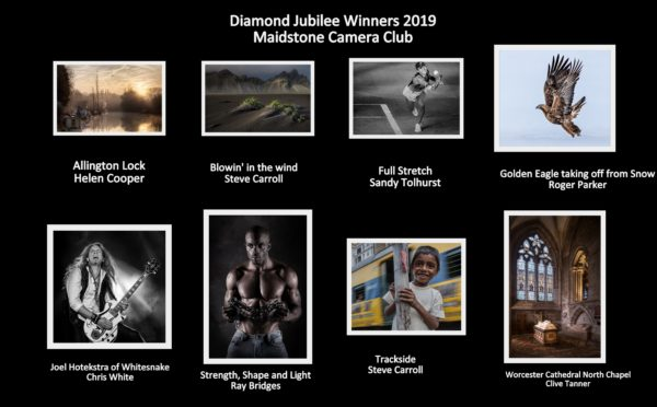 The eight images entered by Maidstone Camera Club