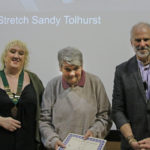 Sandy Tolhurst wins a merit award for her image: Full Stretch