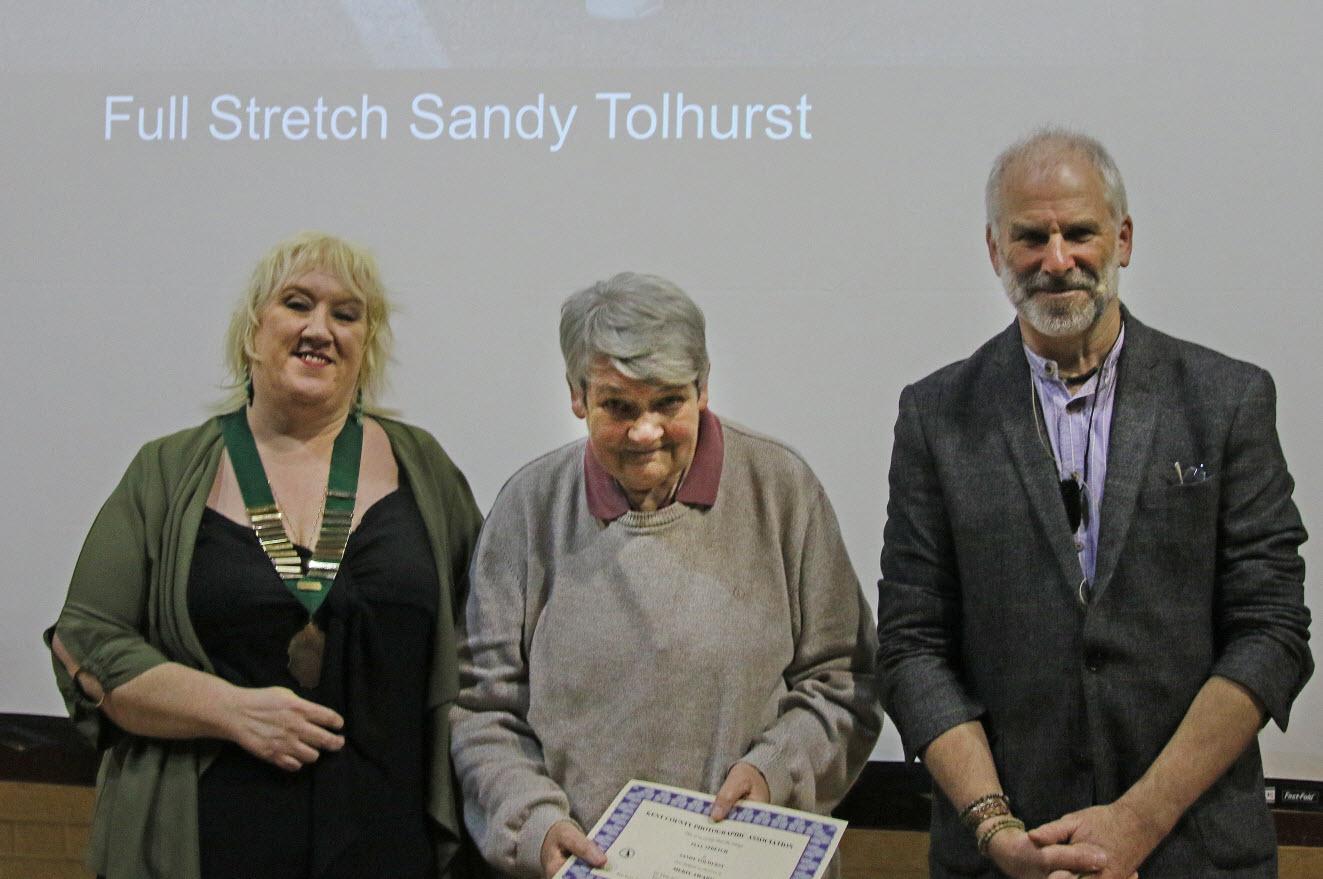 Sandy Tolhurst wins a merit award for her image: Full Stretch