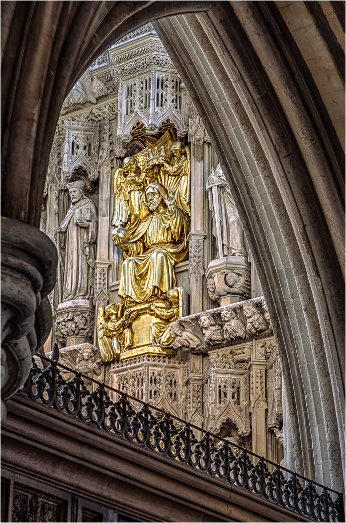 Southwark Cathedral, Reredos detail from South Quire Aisle