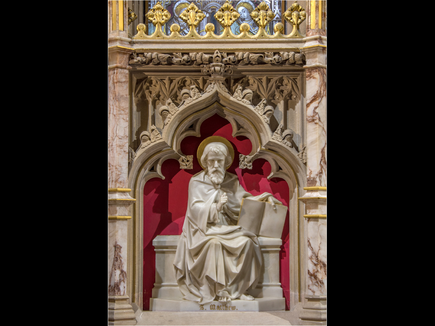 3rd Place - Sculptor of St Mathew stands on the High Altar of St James Church in Louth, at a height of 60cm and was carved by Samuel Ruddock by Chris Moncrieff LBAPA, BPE3, CPAGB, AFIAP