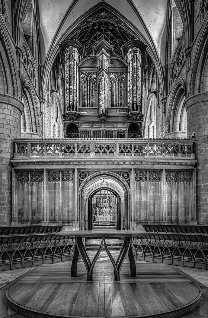 1st Place - Gloucester Cathedral, Nave Altar, Quire Screen and Organ Loft to the east by Clive Tanner MPAGB, FRPS, ARPS