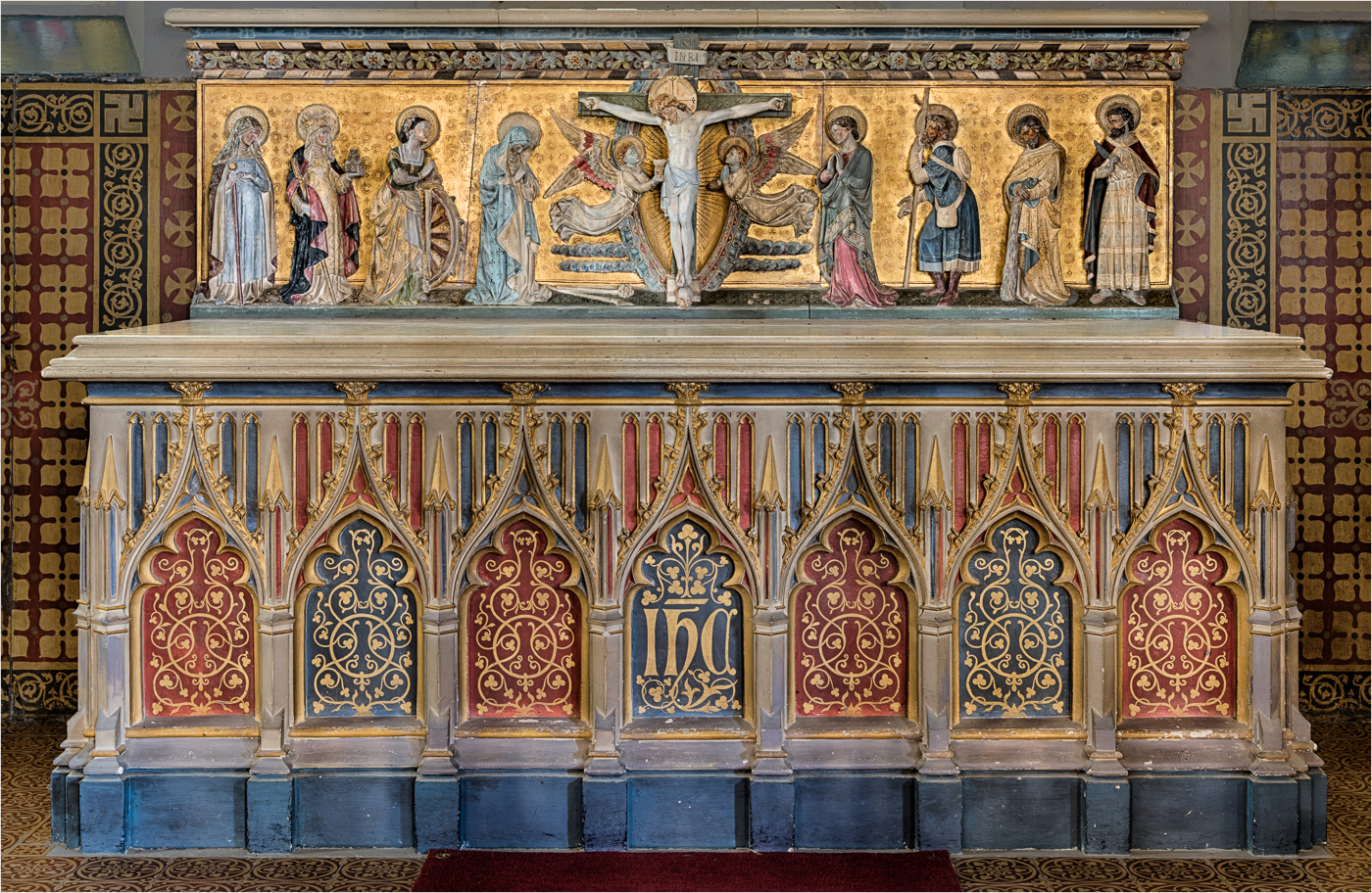 2nd Place - Christchurch, Kilndown; the decorated Altar by Clive Tanner MPAGB, FRPS, ARPS