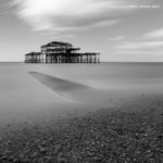 The pier and the receding tide
